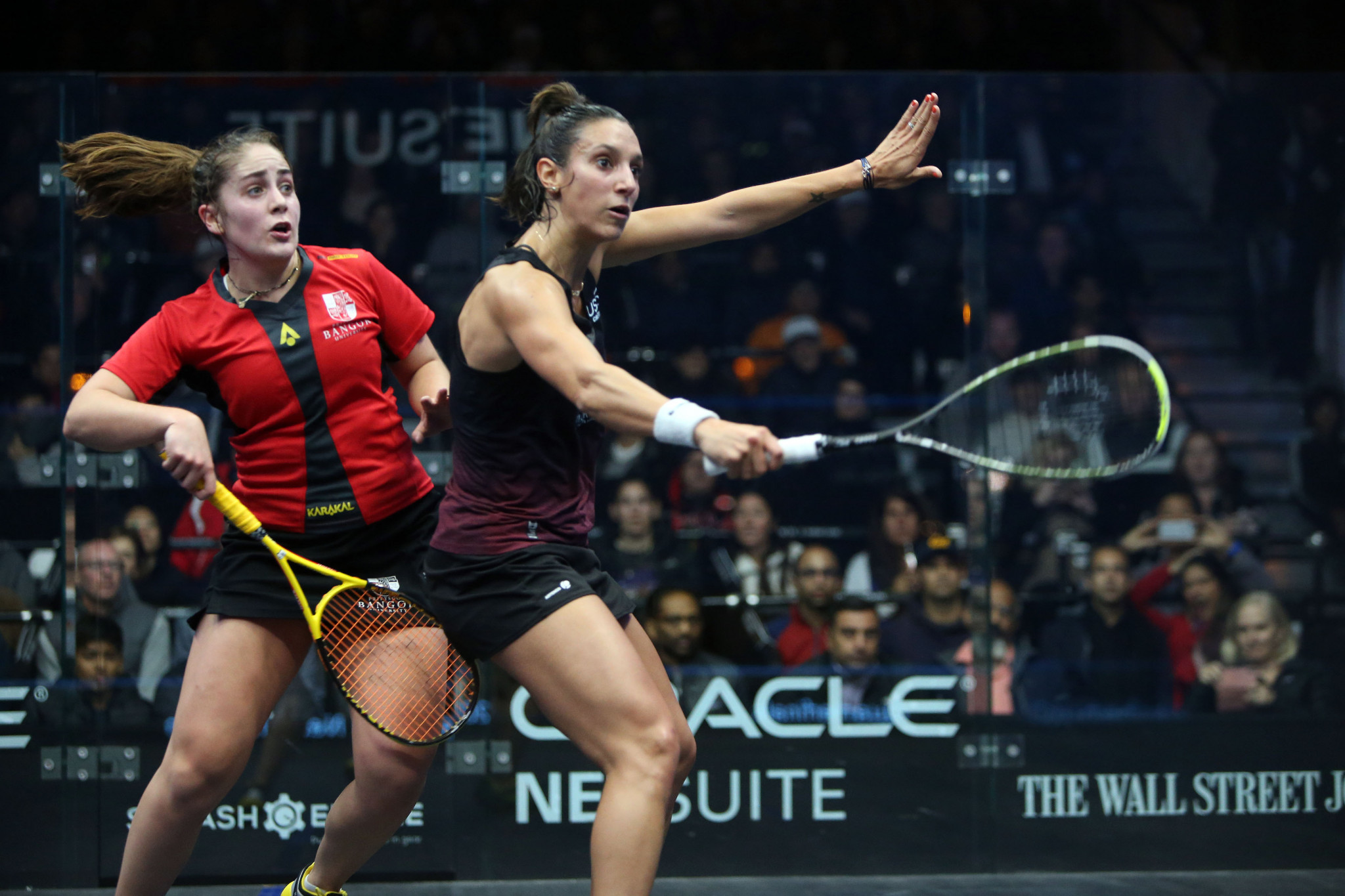 In the women's draw, Camille Serme got the better of world number nine Tesni Evans to reach the last four ©PSA