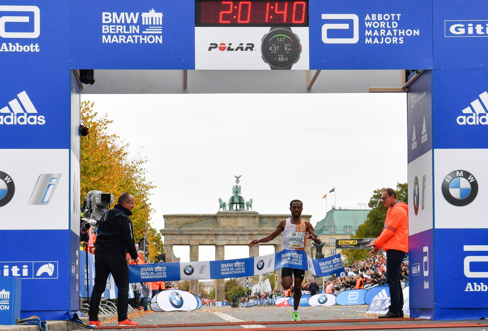 Kenenisa Bekele set the second-fastest marathon time in history in Berlin ©Getty Images