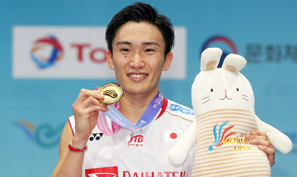Momota clinches eighth title of season with victory at BWF Korea Open