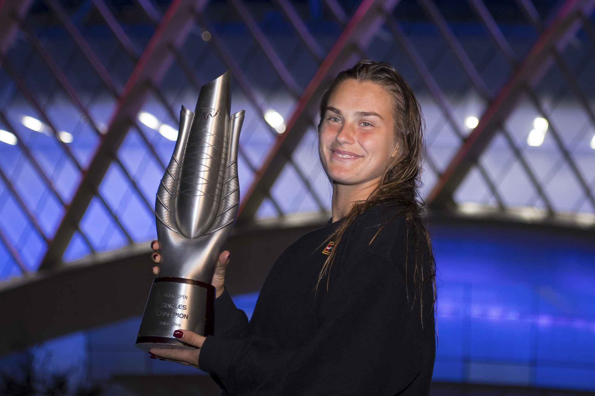 Aryna Sabalenka is on a strong run after sealing her second successive Wuhan Open title ©Getty Images