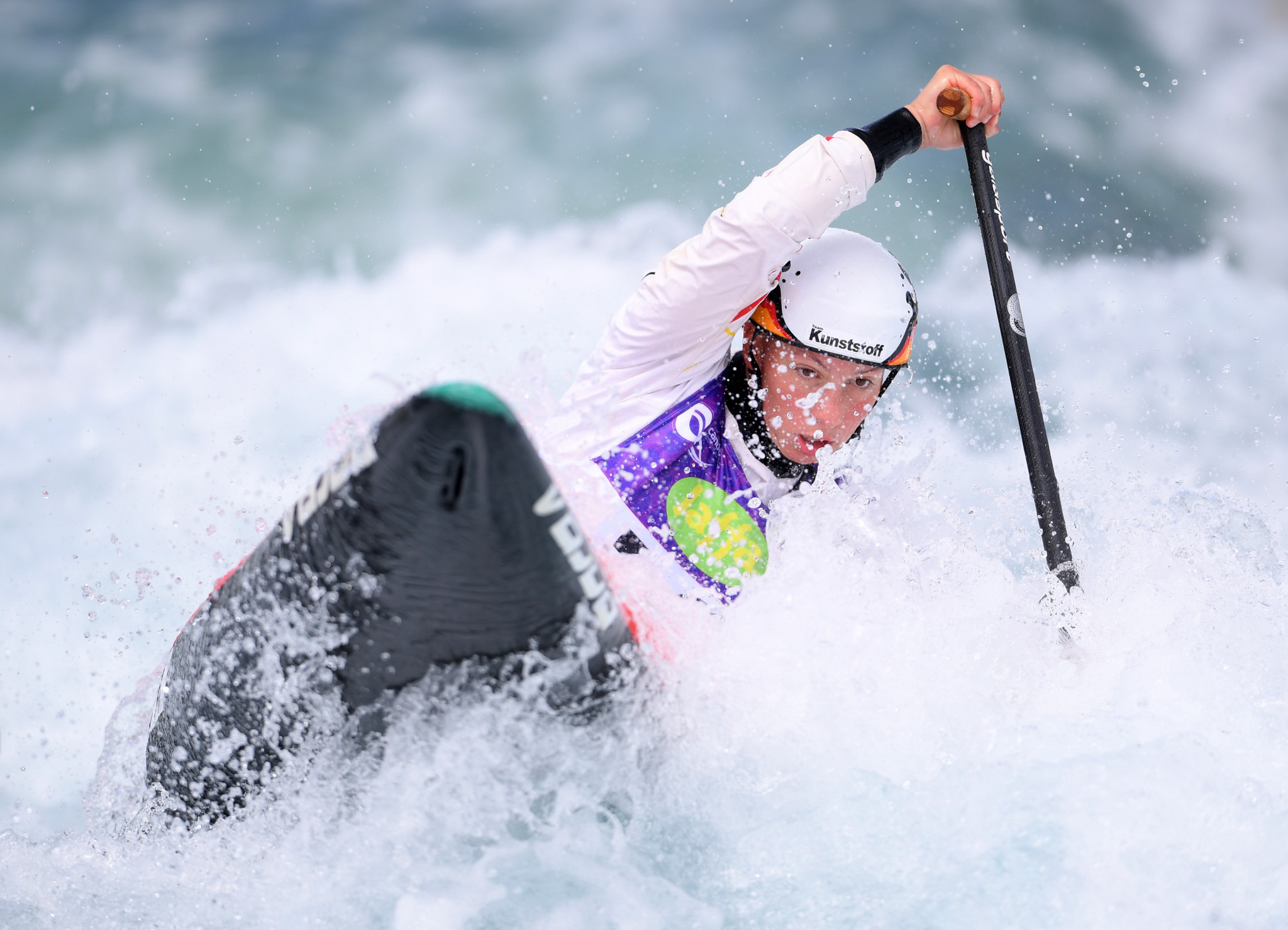 Germany's Andrea Herzog triumphed in the women's C1 final ©Getty Images