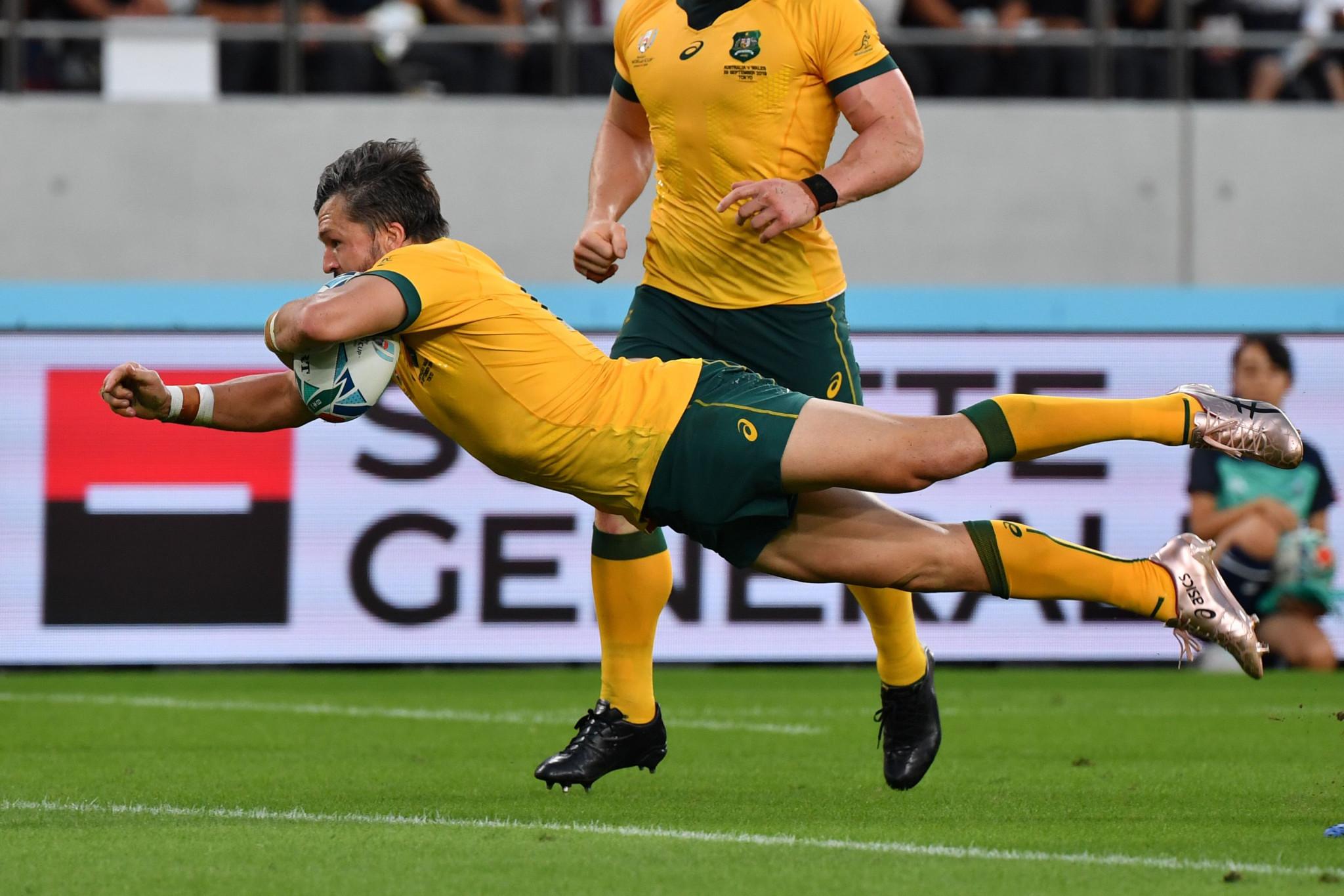Adam Ashley-Cooper crossed as Australia hit back ©Getty Images