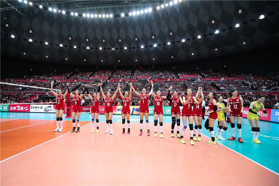 China ended with a 100 per cent record ©FIVB