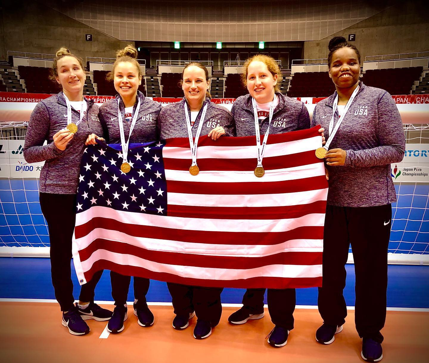 United States win Tokyo 2020 goalball test event