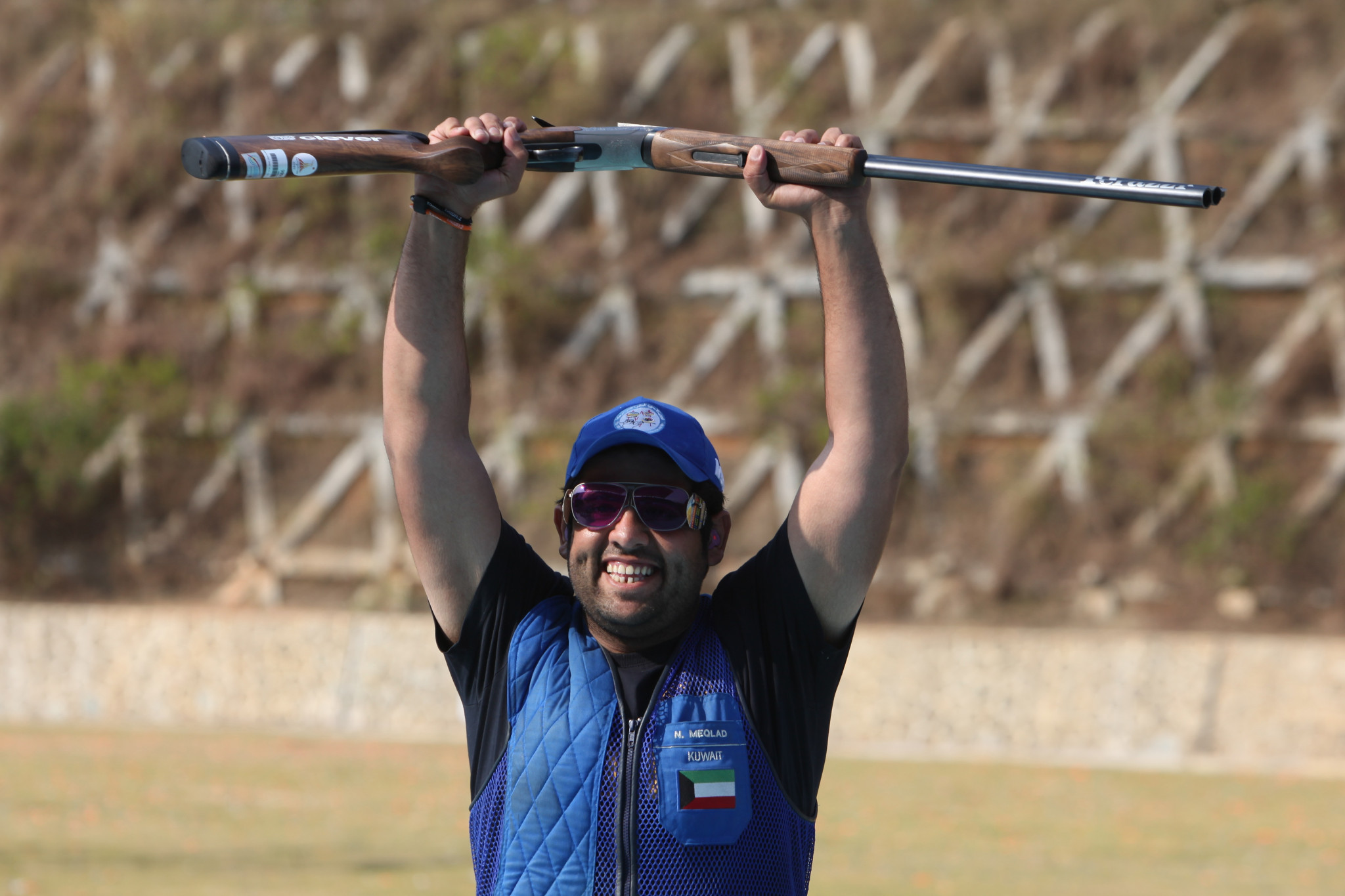 Naser Meqlad won the individual men's trap title for Kuwait ©Getty Images