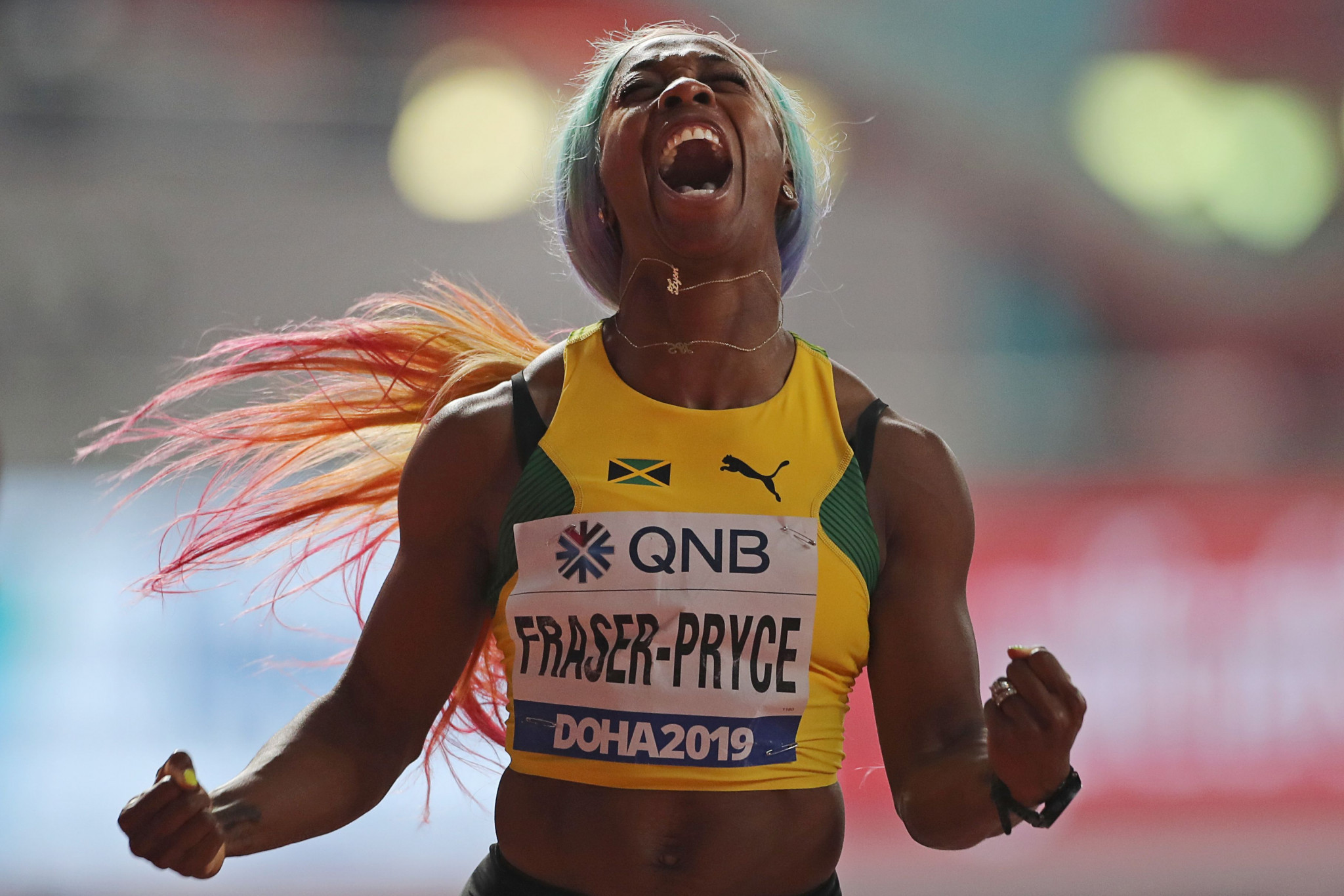 Fraser-Pryce regains women's world 100m title in Doha as Sidorova and Taylor earn dramatic wins