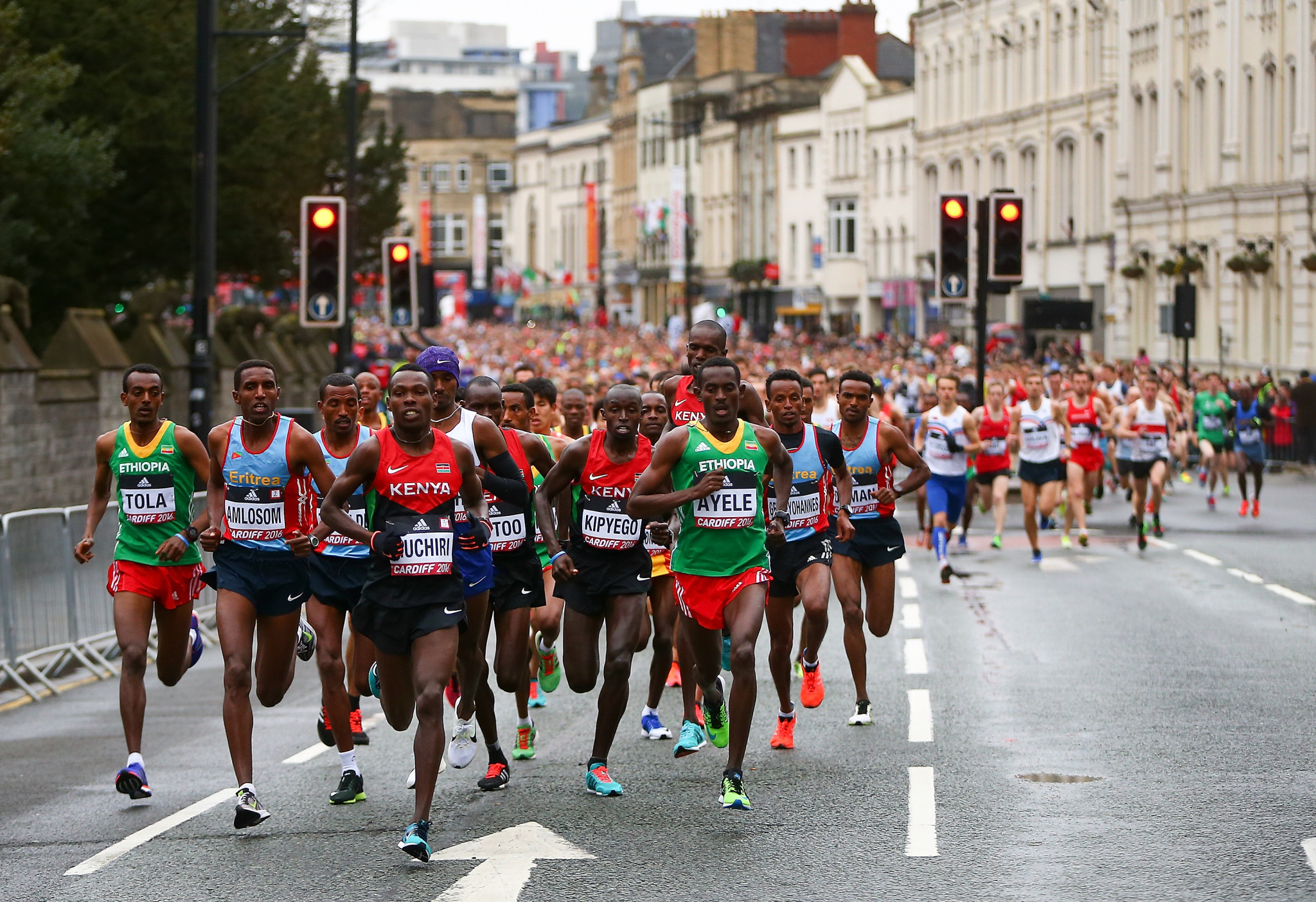 The IAAF World Half Marathon Championships at Cardiff in 2016 – could this event be taken into the main World Championships in future years? ©Getty Images