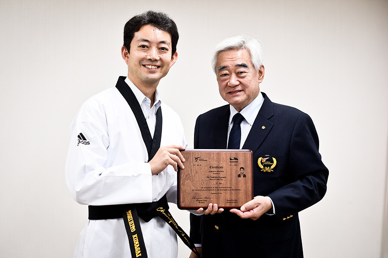 Japanese Mayor awarded honorary sixth dan black belt by World Taekwondo