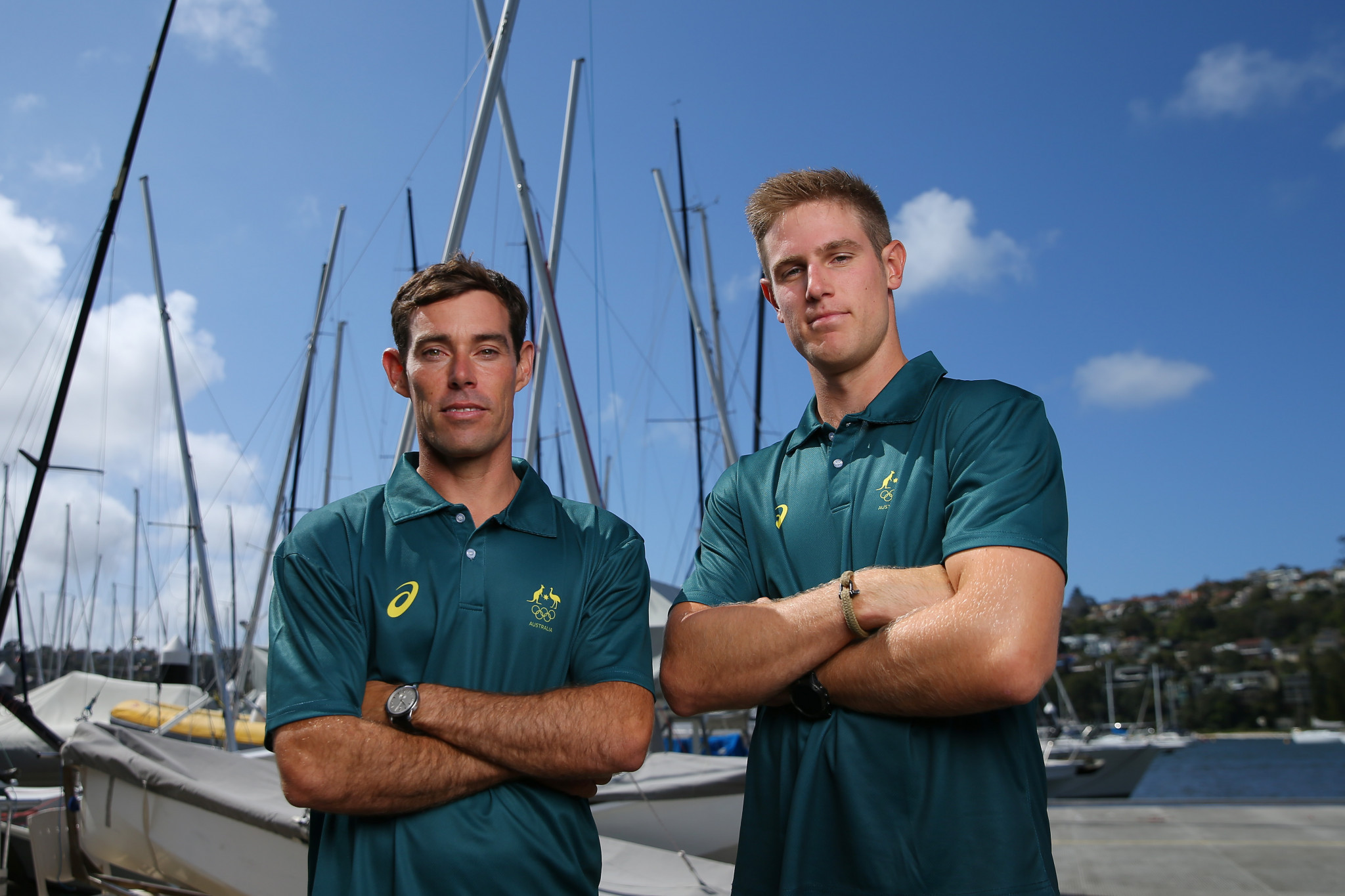 Mathew Belcher, left, and Matt Wearn are among the first three athletes selected for Australia at Tokyo 2020 ©Getty Images