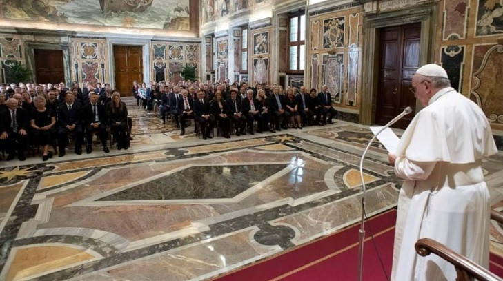 IIHF members granted audience with Pope Francis at the Vatican
