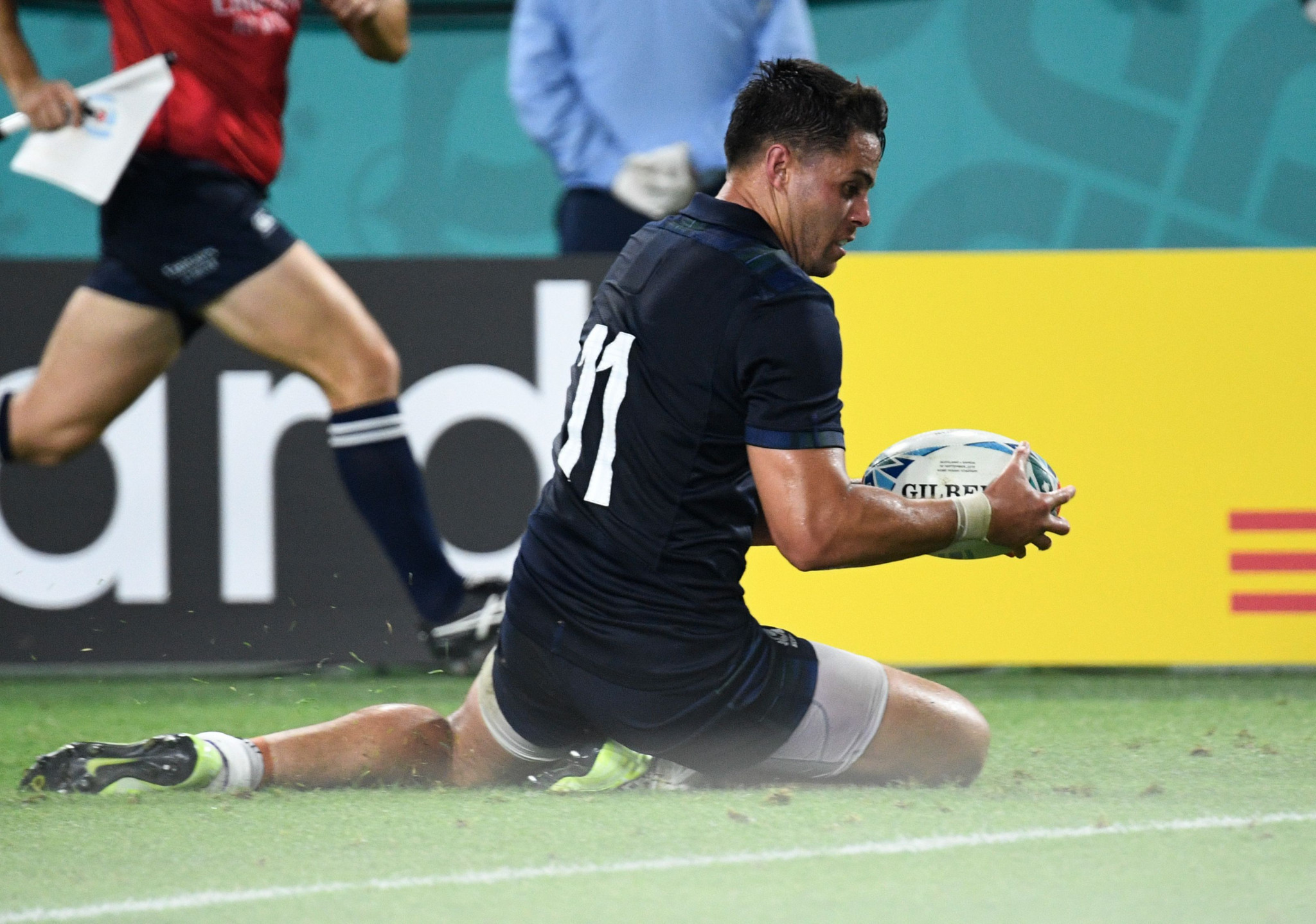Sean Maitland scored the opening try for Scotland ©Getty Images