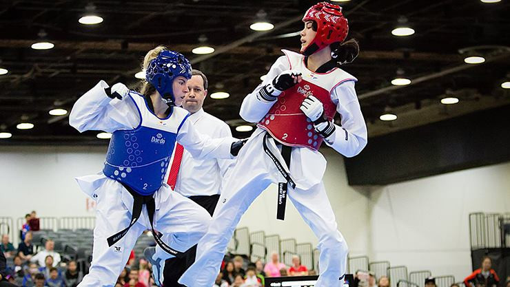 The US Open is a major event across the age groups ©USA Taekwondo