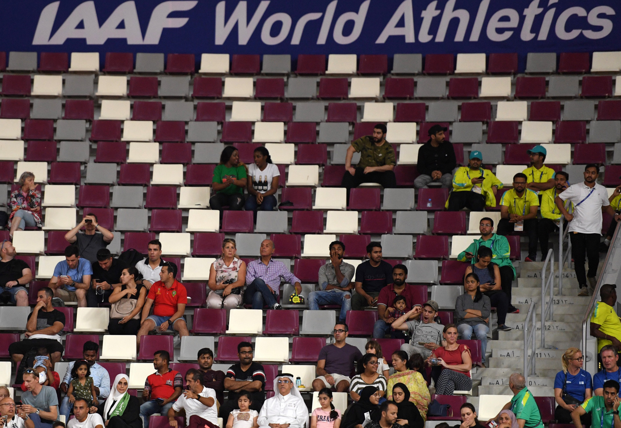 Qatar blame TV schedule and Saudi-led blockade for poor IAAF World Championships crowds