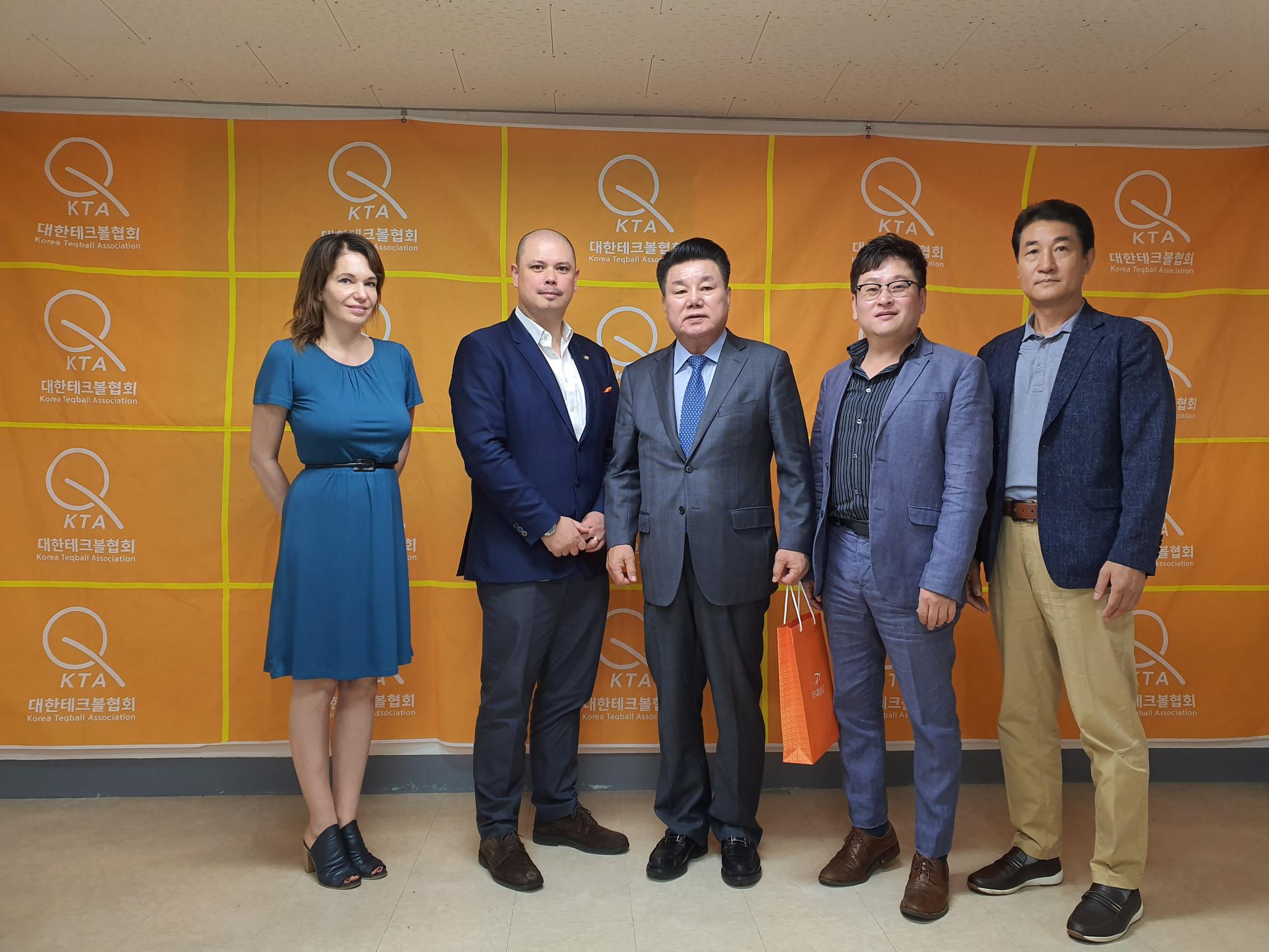 The Korea Teqball Association has signed a memorandum of understanding with Seoul National University ©FITEQ