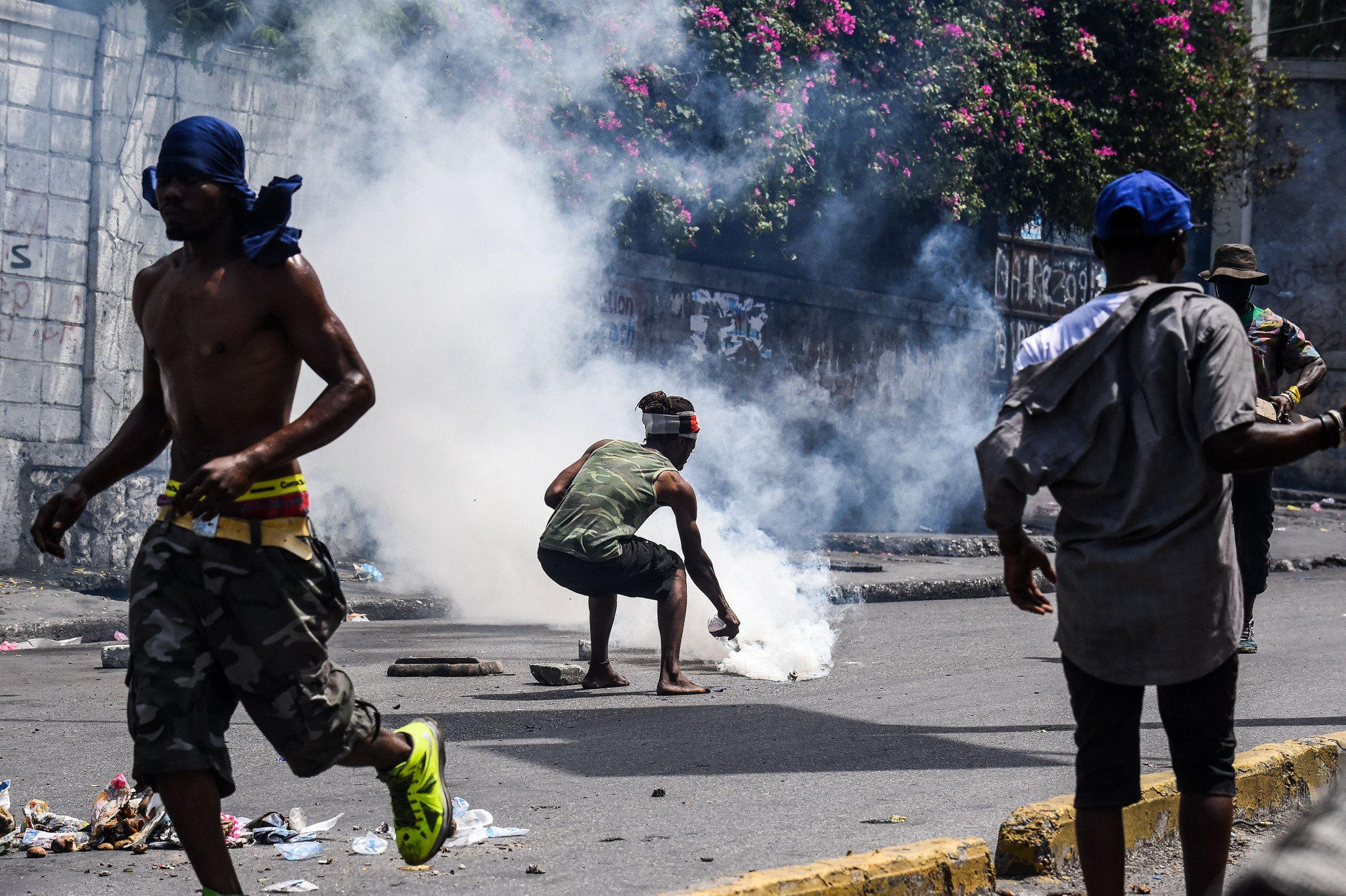Anti-government protesters have demanded the resignation of President Jovenel Moise in Haiti ©Getty Images