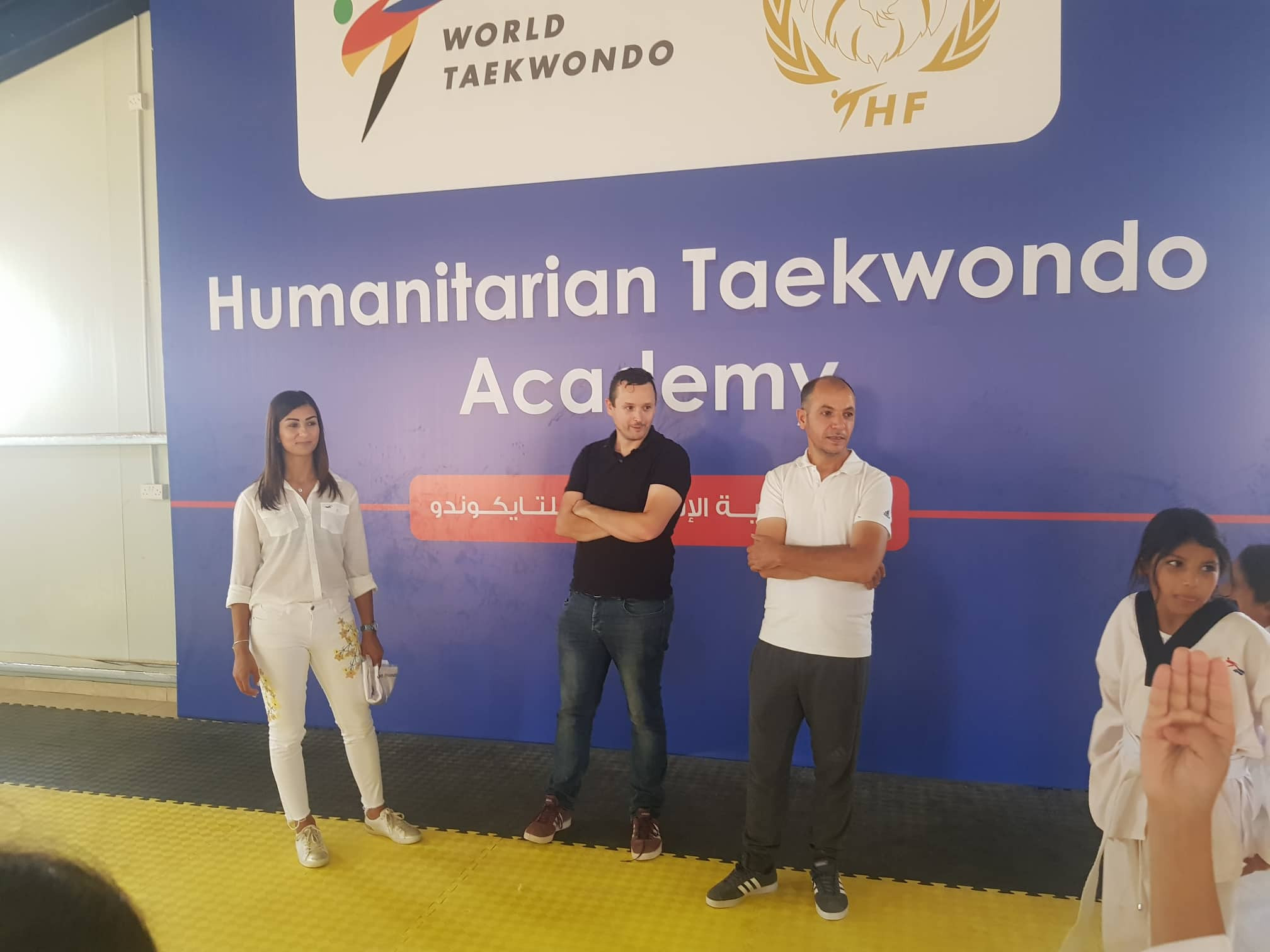Dan Palmer visits Taekwondo Humanitarian Foundation in Jordan
