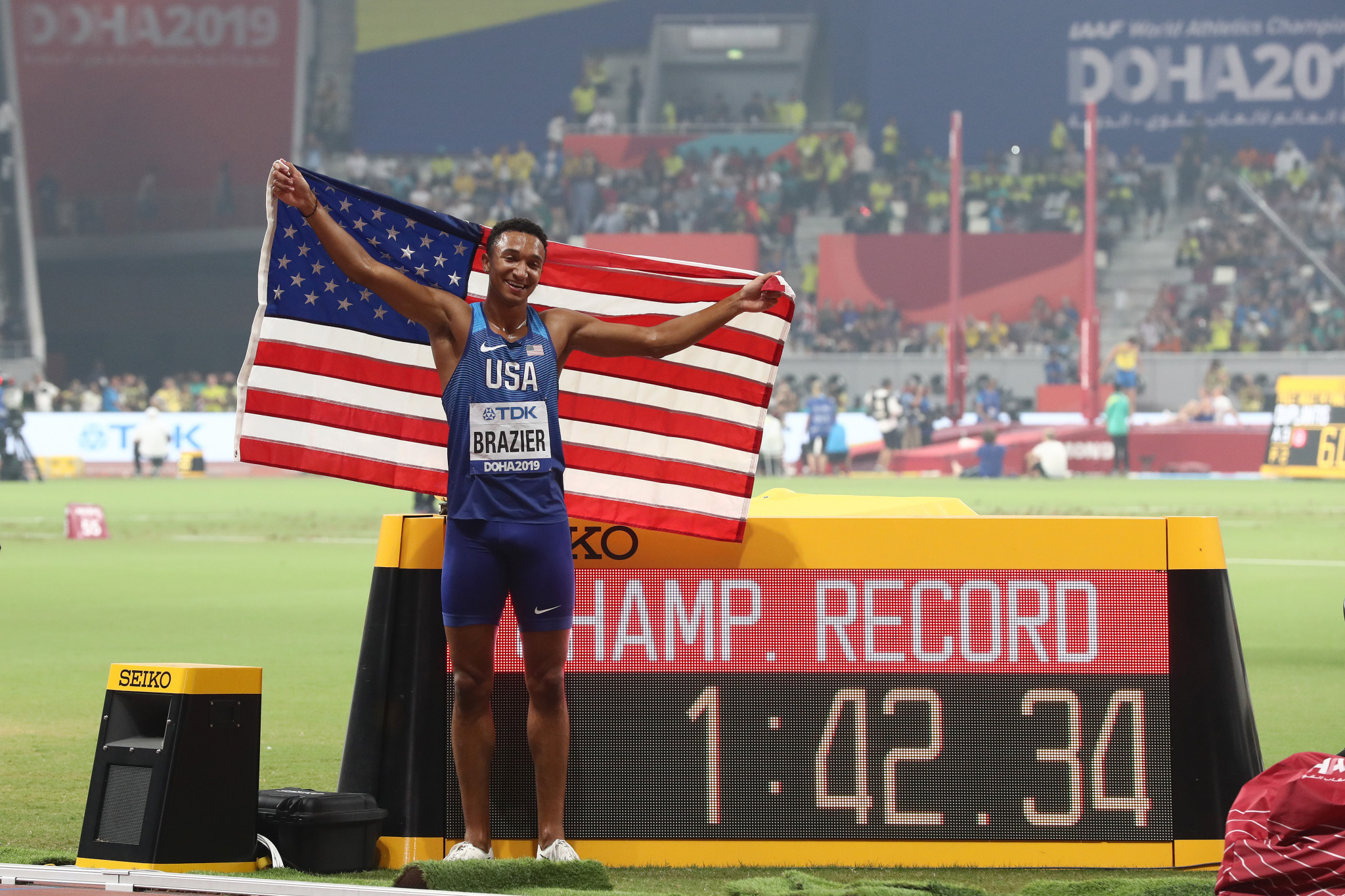 US win three golds at IAAF World Championships as Brazier ignores Salazar controversy
