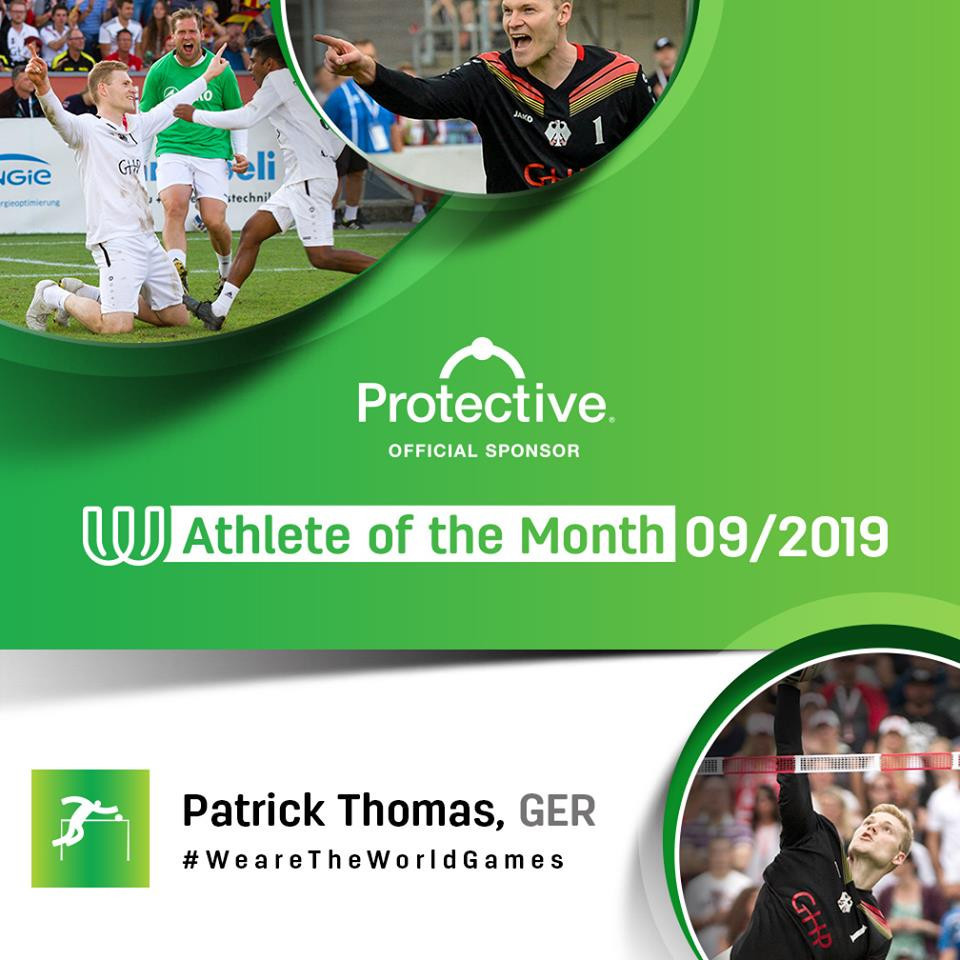 Patrick Thomas has been named as The World Games athlete of the month for September ©IWGA