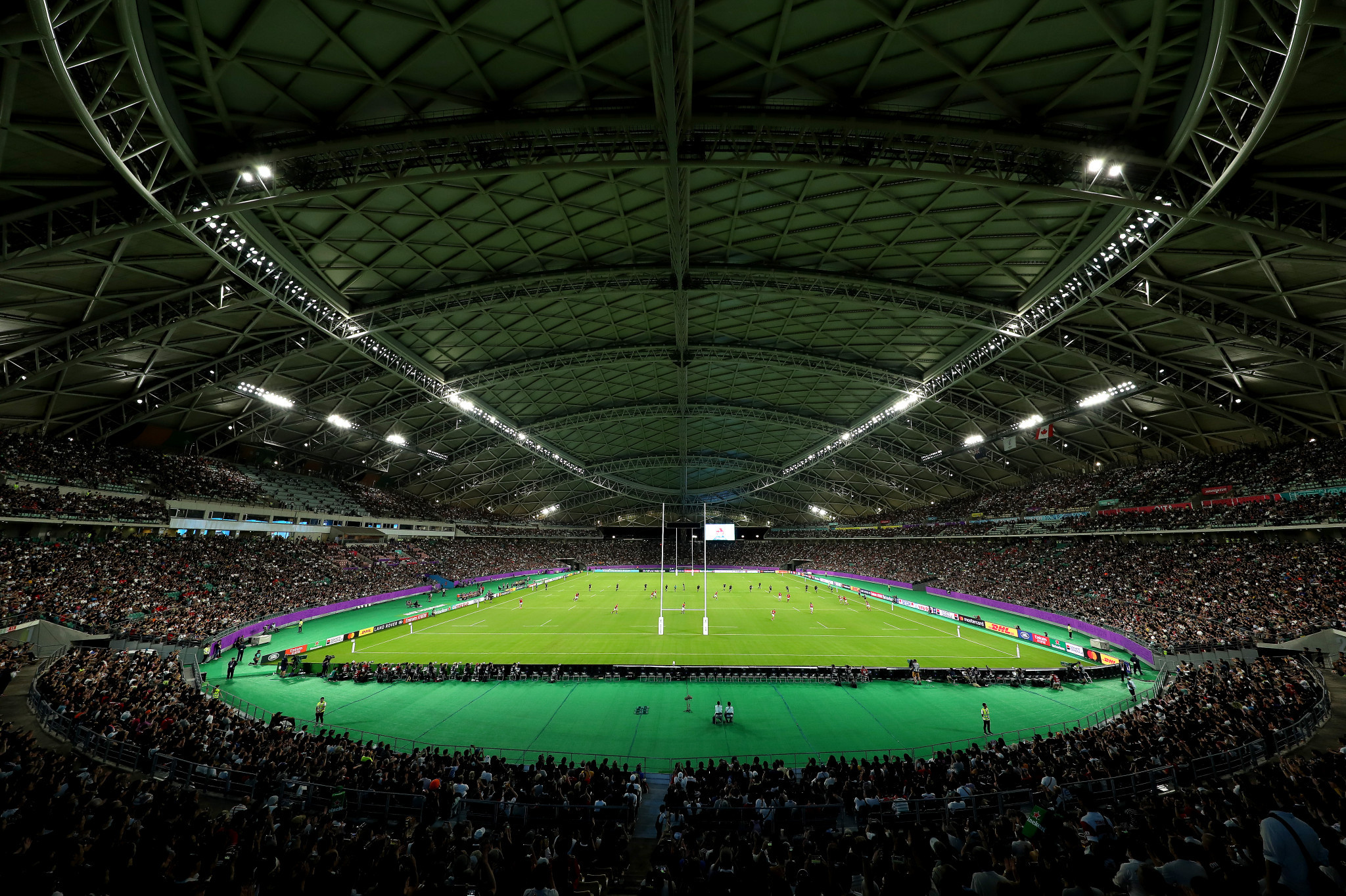 The Oita Stadium and its roof made its World Cup debut ©Getty Images