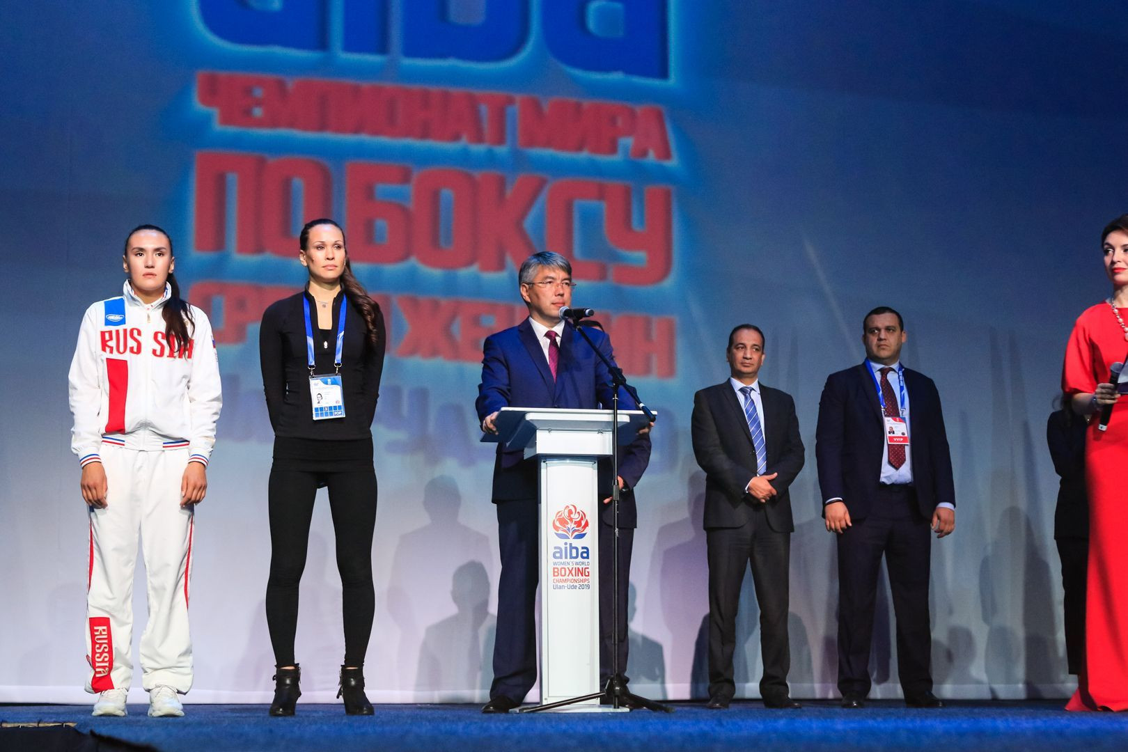 Head of the Republic of Buryatia, Alexey Tsydenov, welcomed participants and fans to Ulan-Ude ©AIBA