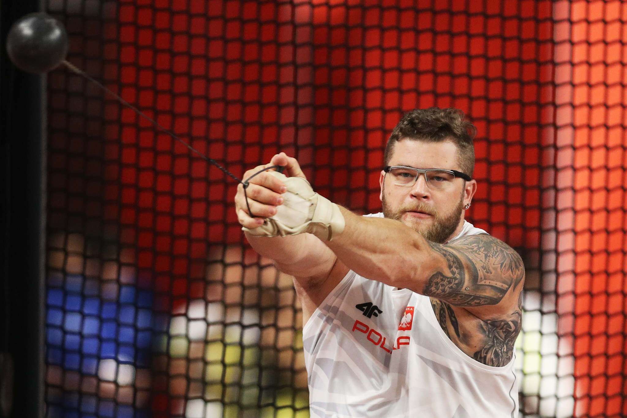 Paweł Fajdek of Poland became the first man to win the hammer at four consecutive IAAF World Championships ©Getty Images