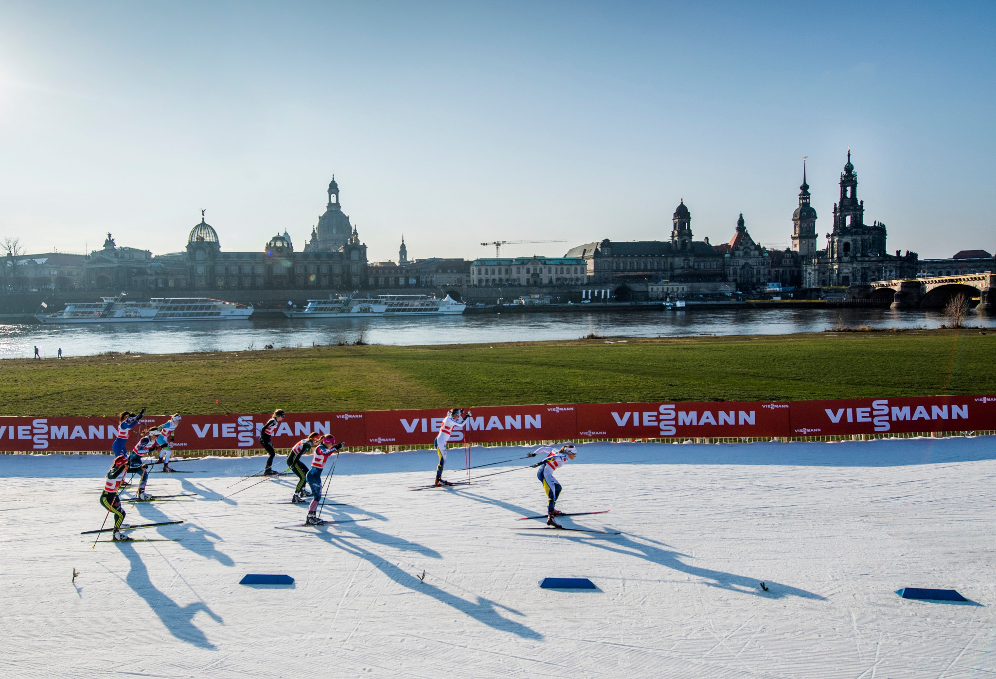 The Para cross-country sprint races will take place on a track in front of the Dresden skyline ©Getty Images