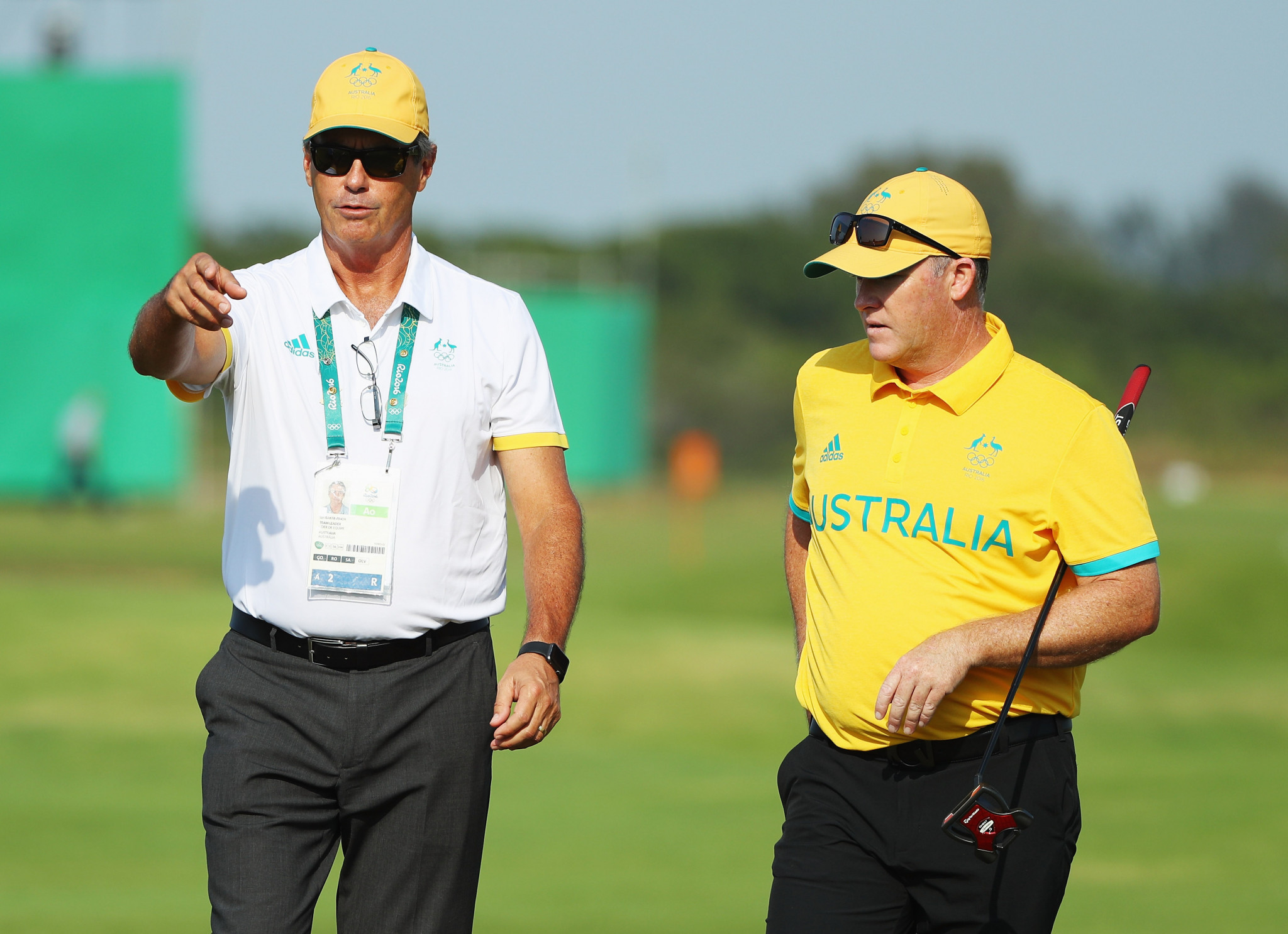 Ian Baker-Finch, left, captained the Australian golf team at Rio 2016 ©Getty Images