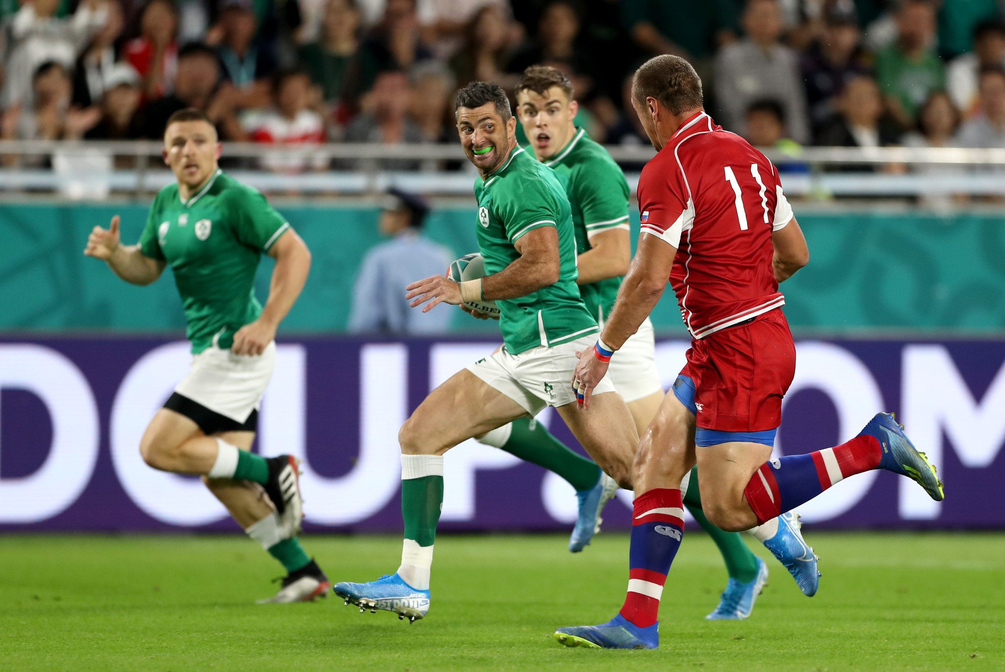Ireland broke the line on numerous occasions, but will be disappointed with their overall execution ©Getty Images