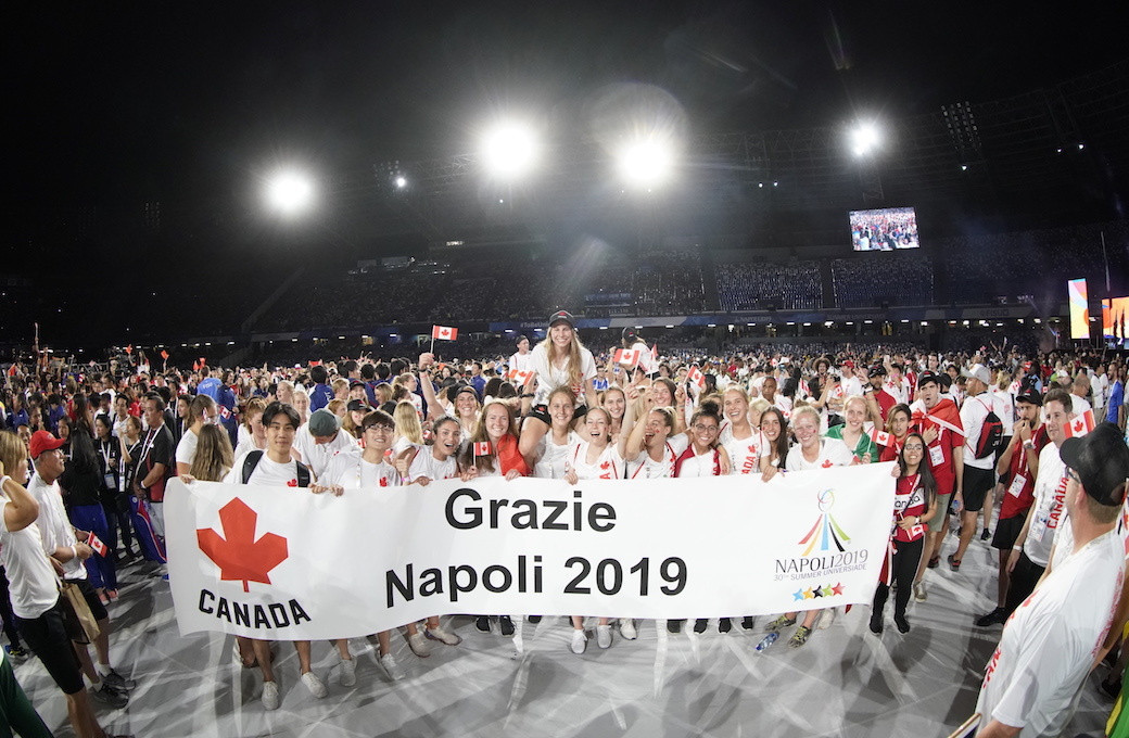 Canada won six medals at the 2019 Summer Universiade in Naples in July ©U SPORTS