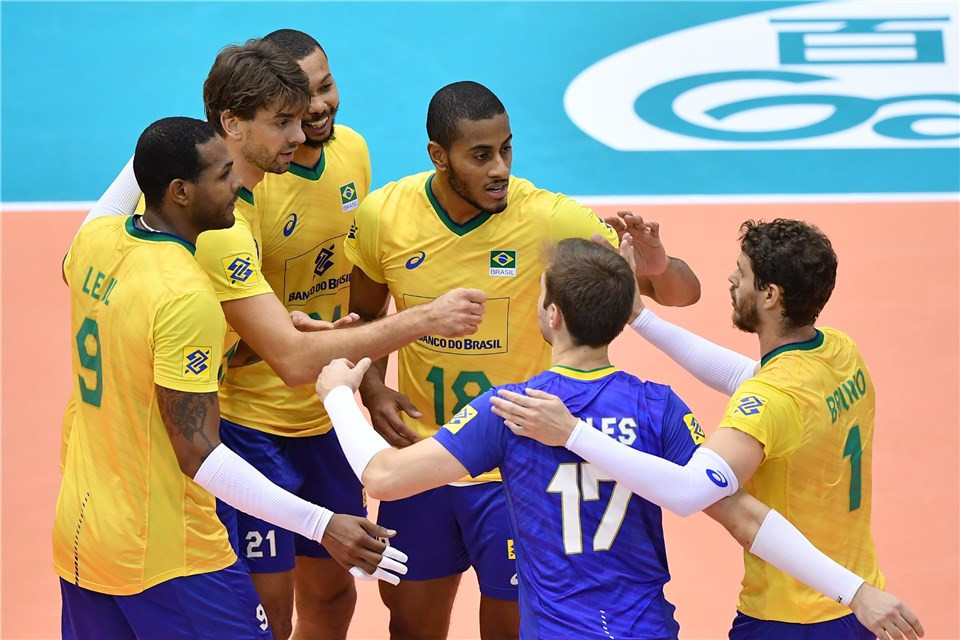 Brazil are the only unbeaten team in the 12-nation tournament ©FIVB