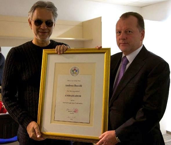 Italian tenor Bocelli announced as IJF Ambassador