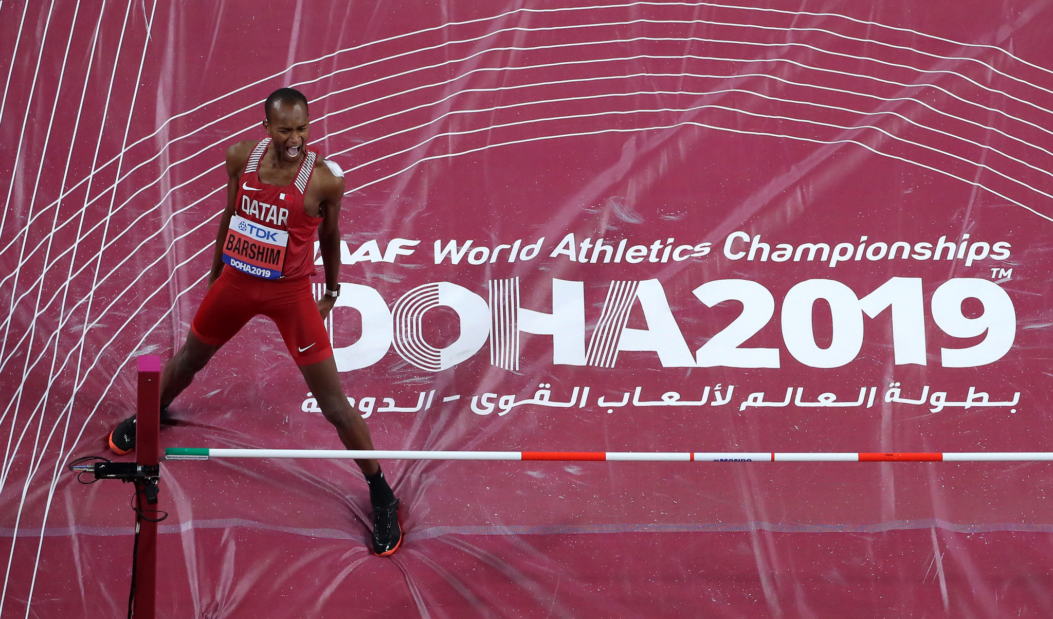 Local hero Barshim delivers on home gold as Muhammad betters her own 400m hurdles world record