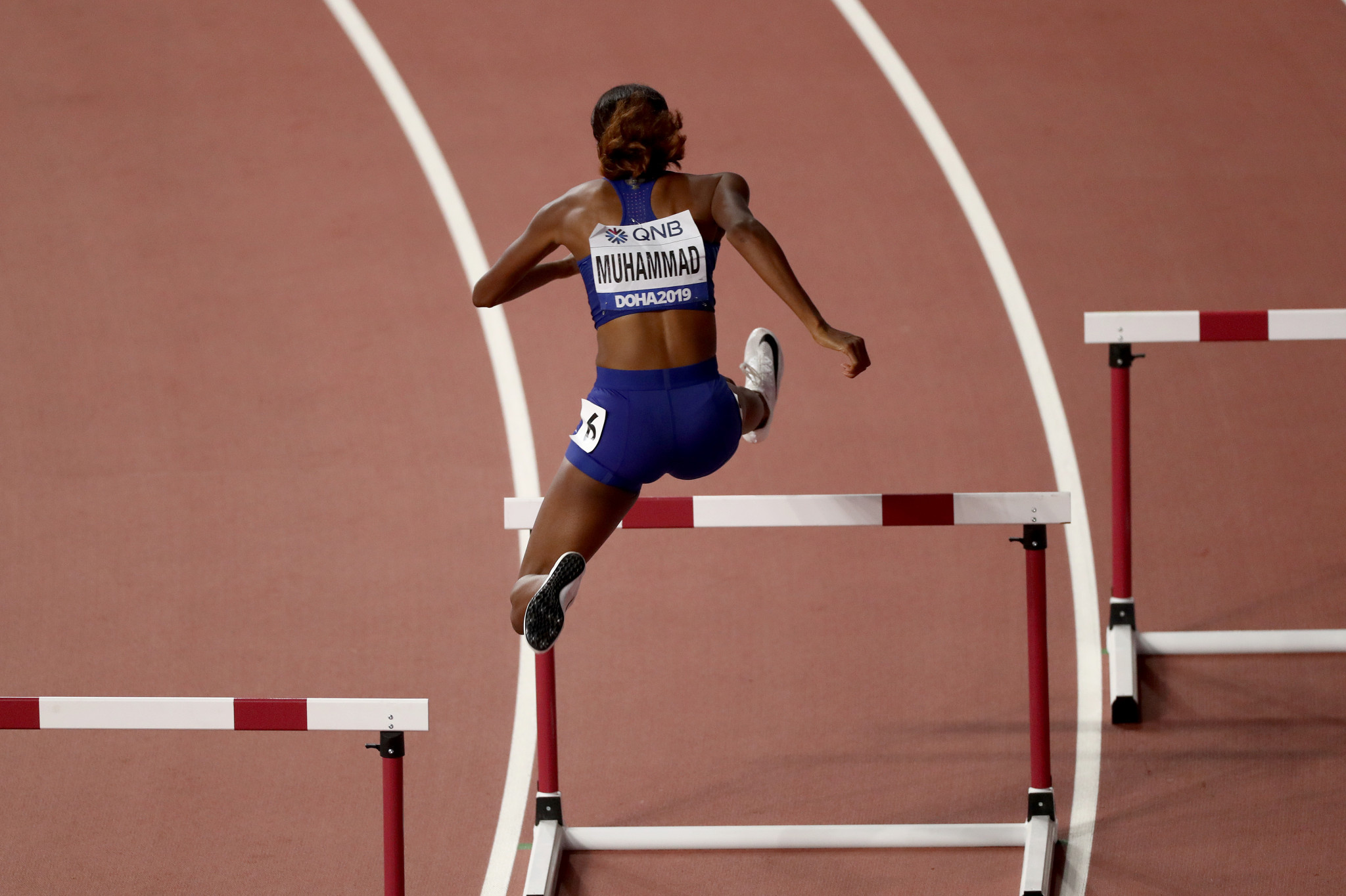 The United States' Dalilah Muhammad broke her own world record to win the women's 400m hurdles ©Getty Images