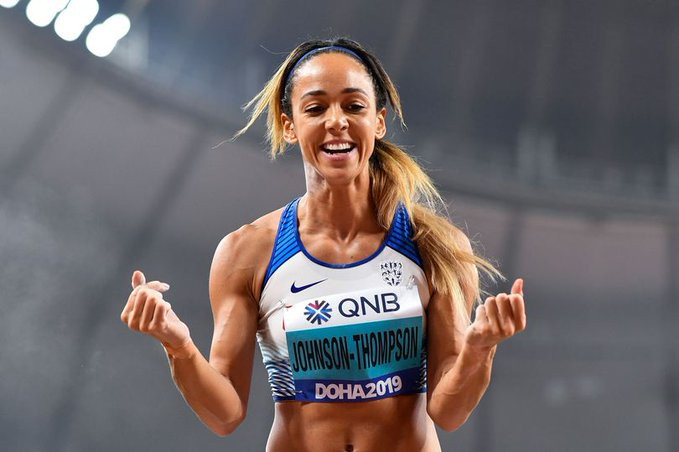 Britain's Katerina Johnson-Thompson finally topped the podium in the heptathlon at the IAAF World Championships, never losing hope after several near-misses ©Twitter