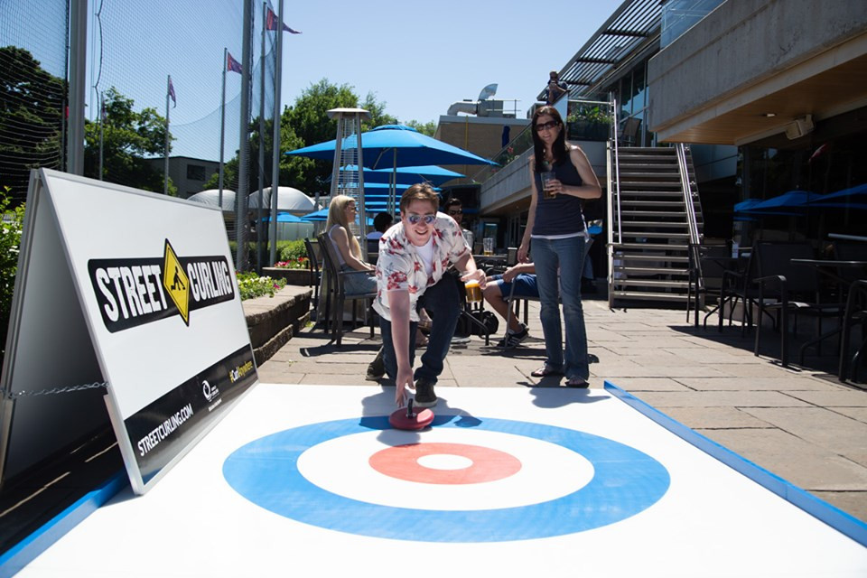Rock Solid Productions specialise in staging public curling events in unusual locations that do not require ice ©Rock Solid Productions