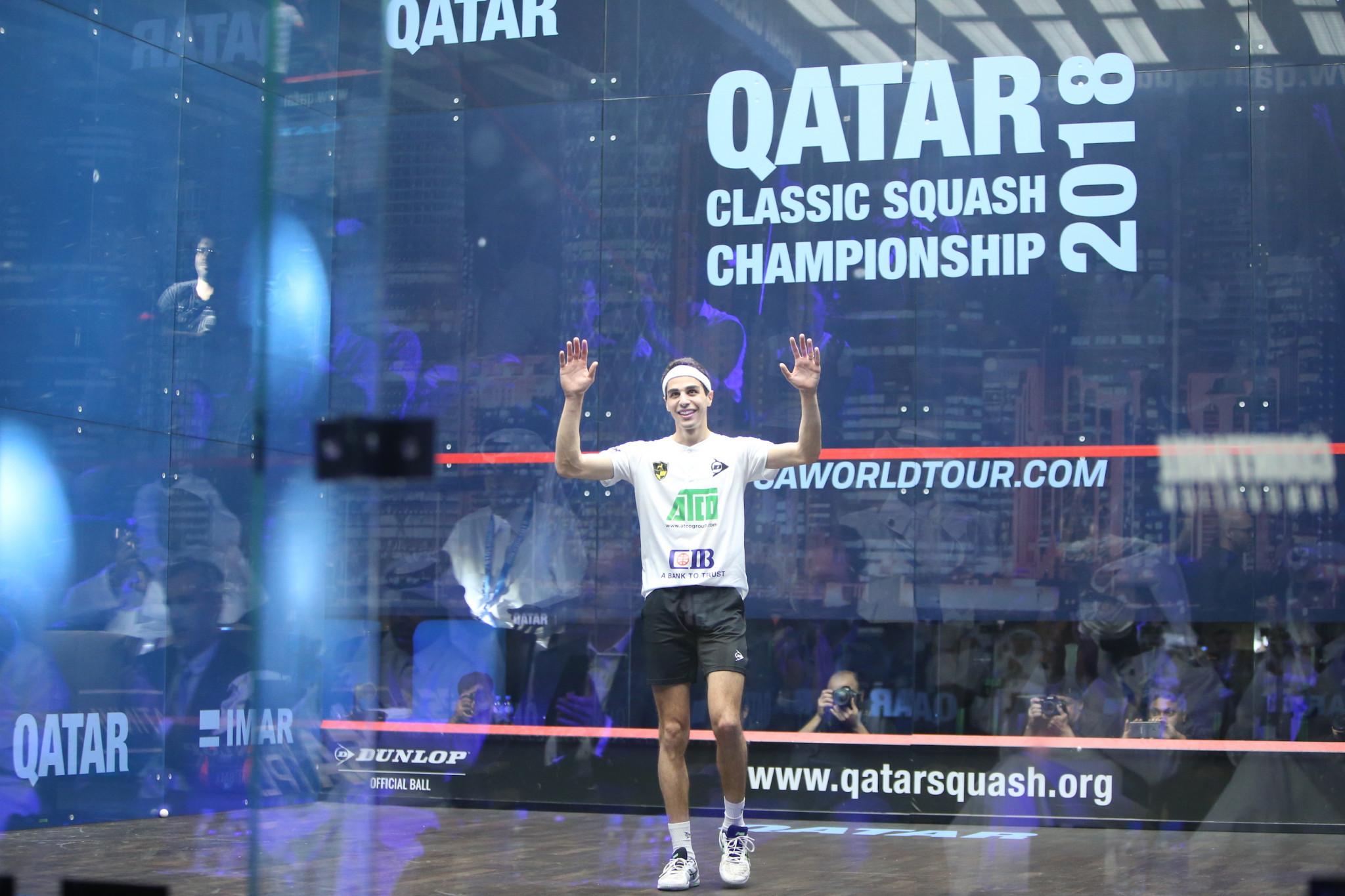 World number one Farag heads PSA Men's World Championship entries