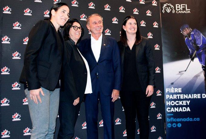 Hockey Canada and BFL Canada announce partnership to promote women's ice hockey