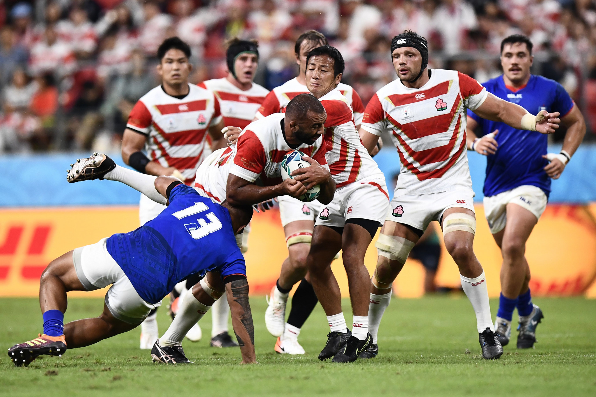 Japan showed plenty of power and passion against Samoa ©Getty Images