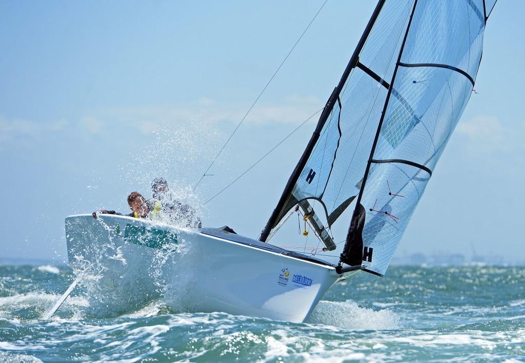 Australian duo seek to continue winning streak in SKUD18 fleet at 2015 Para World Sailing Championships