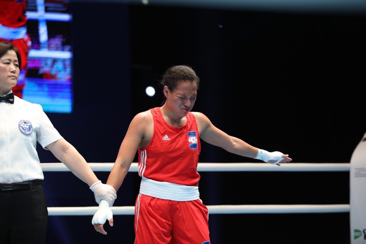 Unfortunately for Antunez, she was defeated unanimously ©AIBA