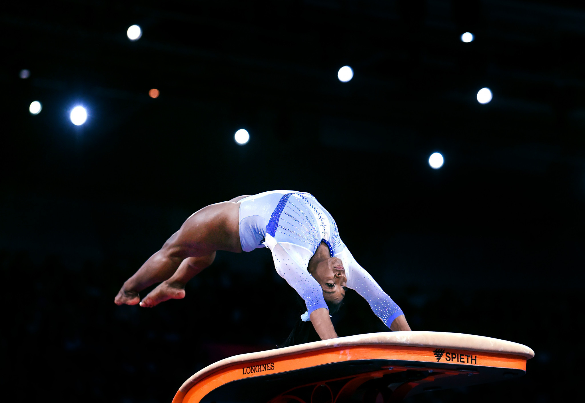 Biles stars in women's all-around qualifying at Artistic Gymnastics World Championships
