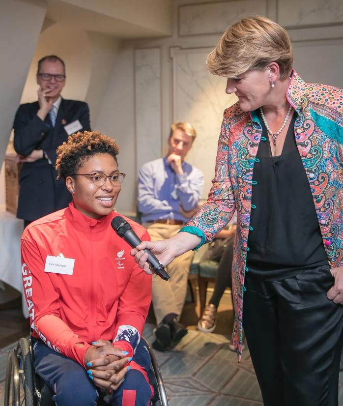 Clare Balding interviews British wheelchair racer Kare Adenegan  ©BPA