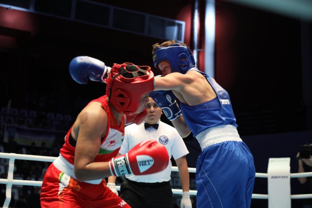 Local boxer Shadrina earns second victory at AIBA Women's World Boxing Championships