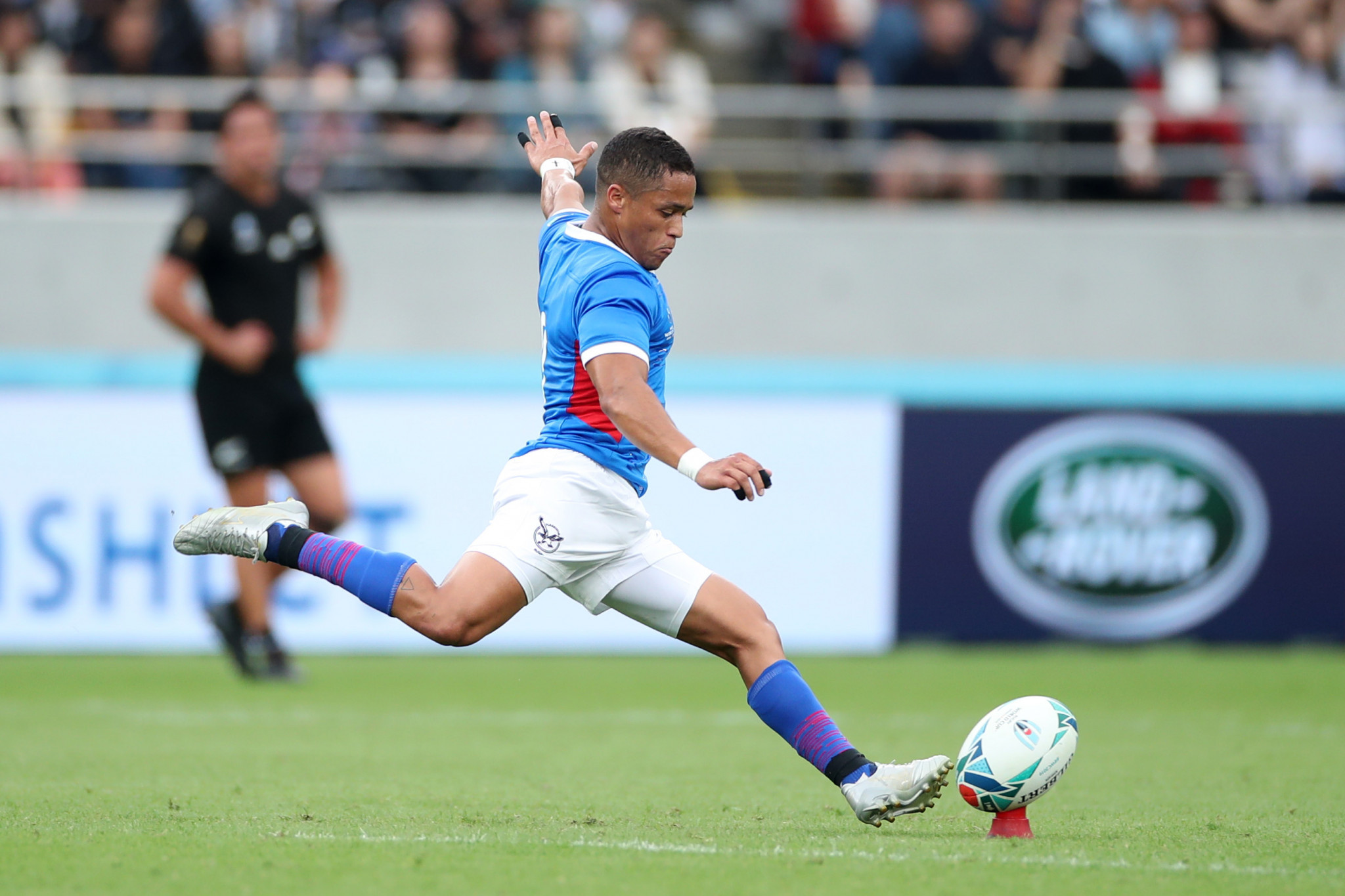 Damian Stevens kicked Namibia into a remarkable 3-0 lead against New Zealand  ©Getty Images