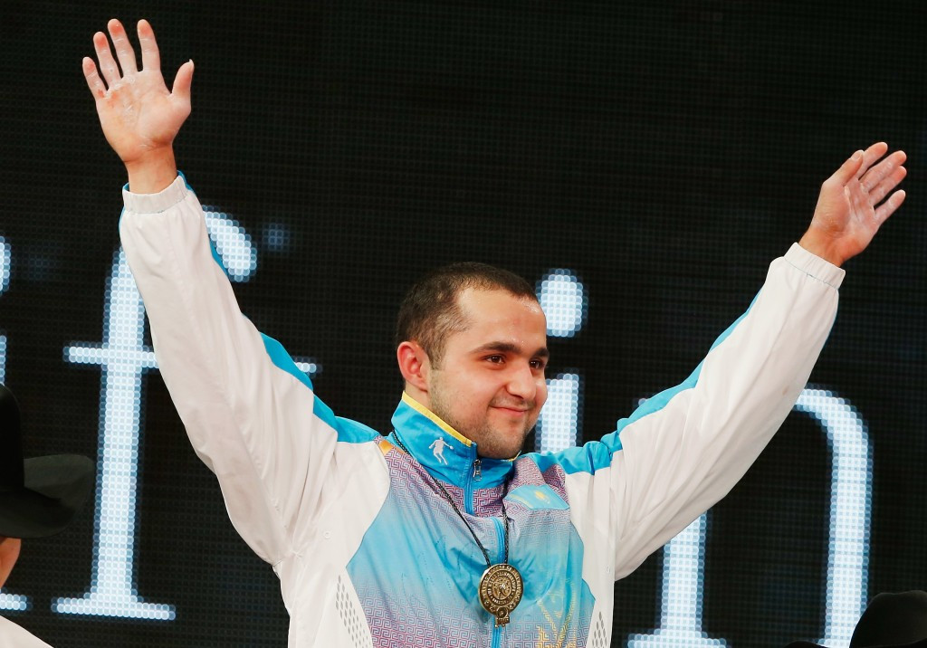 Kazakhstan's Nijat Rahimov claimed the men's 77 kilogram overall title after winning the clean and jerk at the International Weightlifting Federation World Championships ©Getty Images