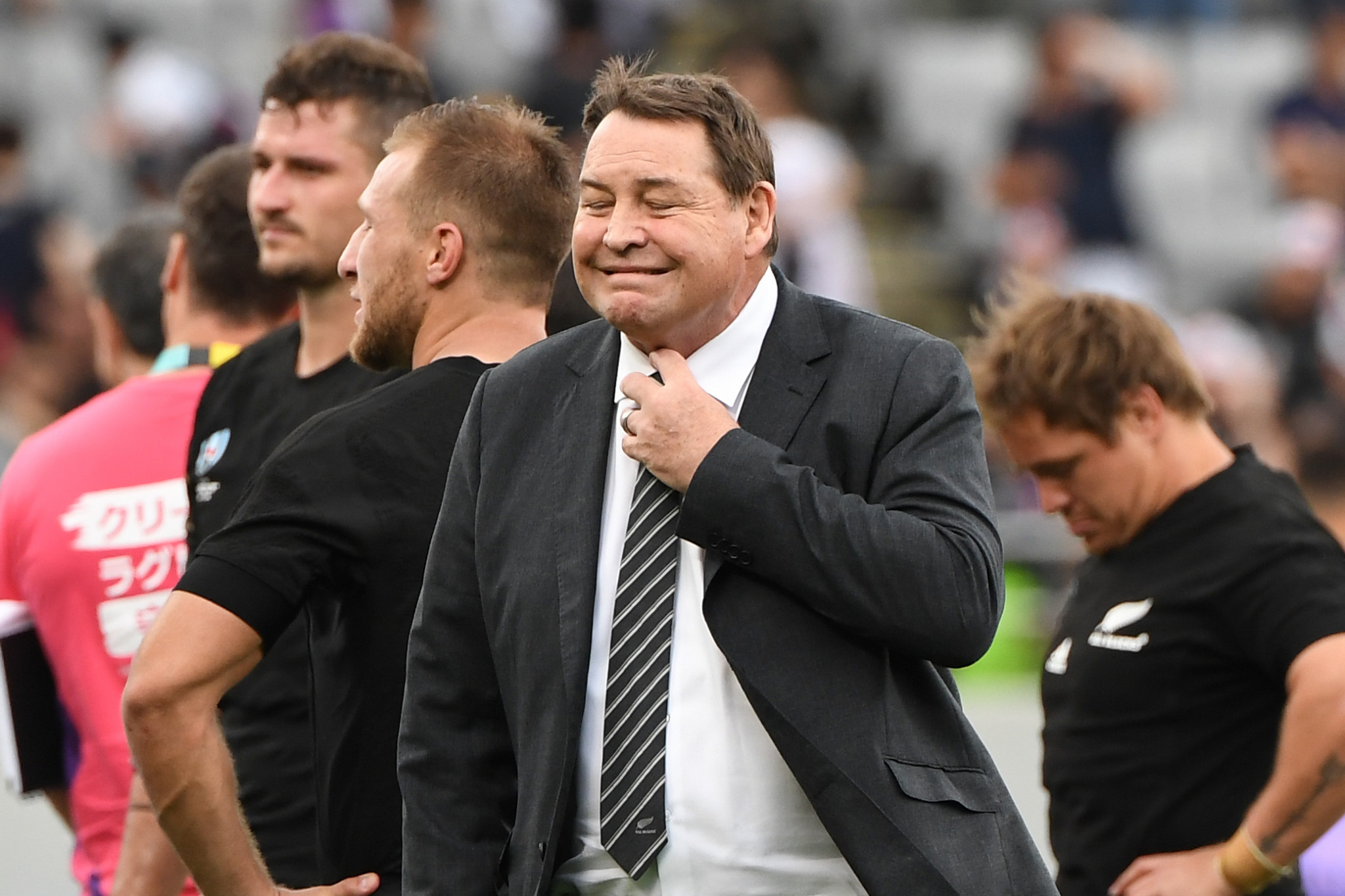 New Zealand coach Steve Hansen gave his side a stern half-time team talk ©Getty Images