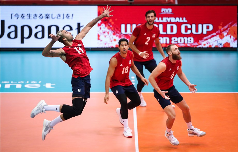 United States comfortably beat Tunisia to stay in touch at the top ©FIVB