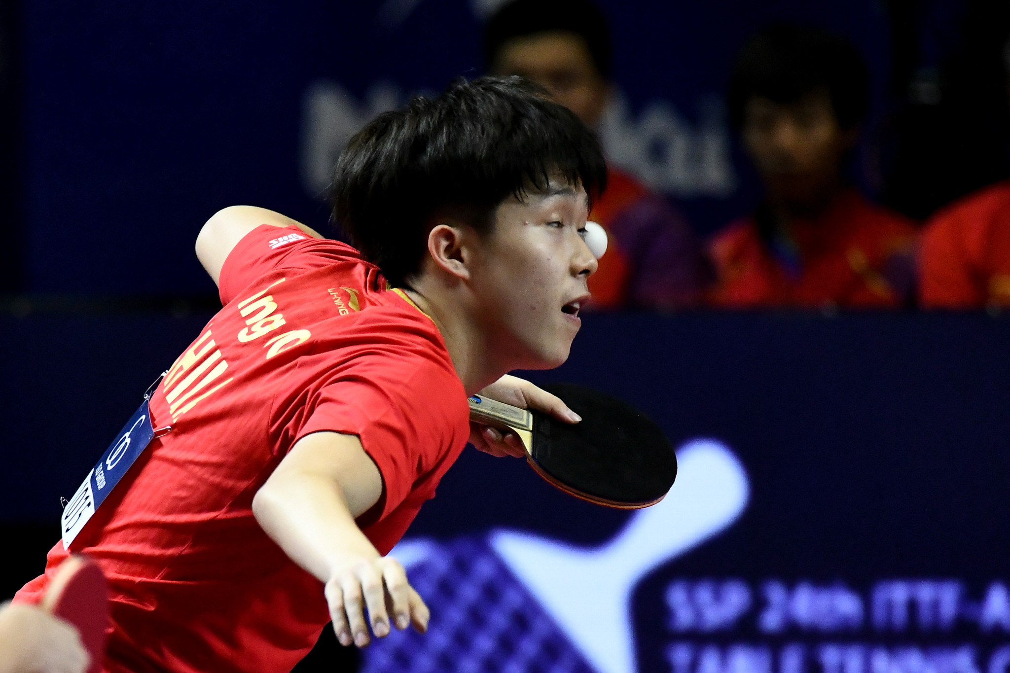 Wang Chuqin sealed his first ITTF World Tour title with victory in the men's singles event ©Getty Images