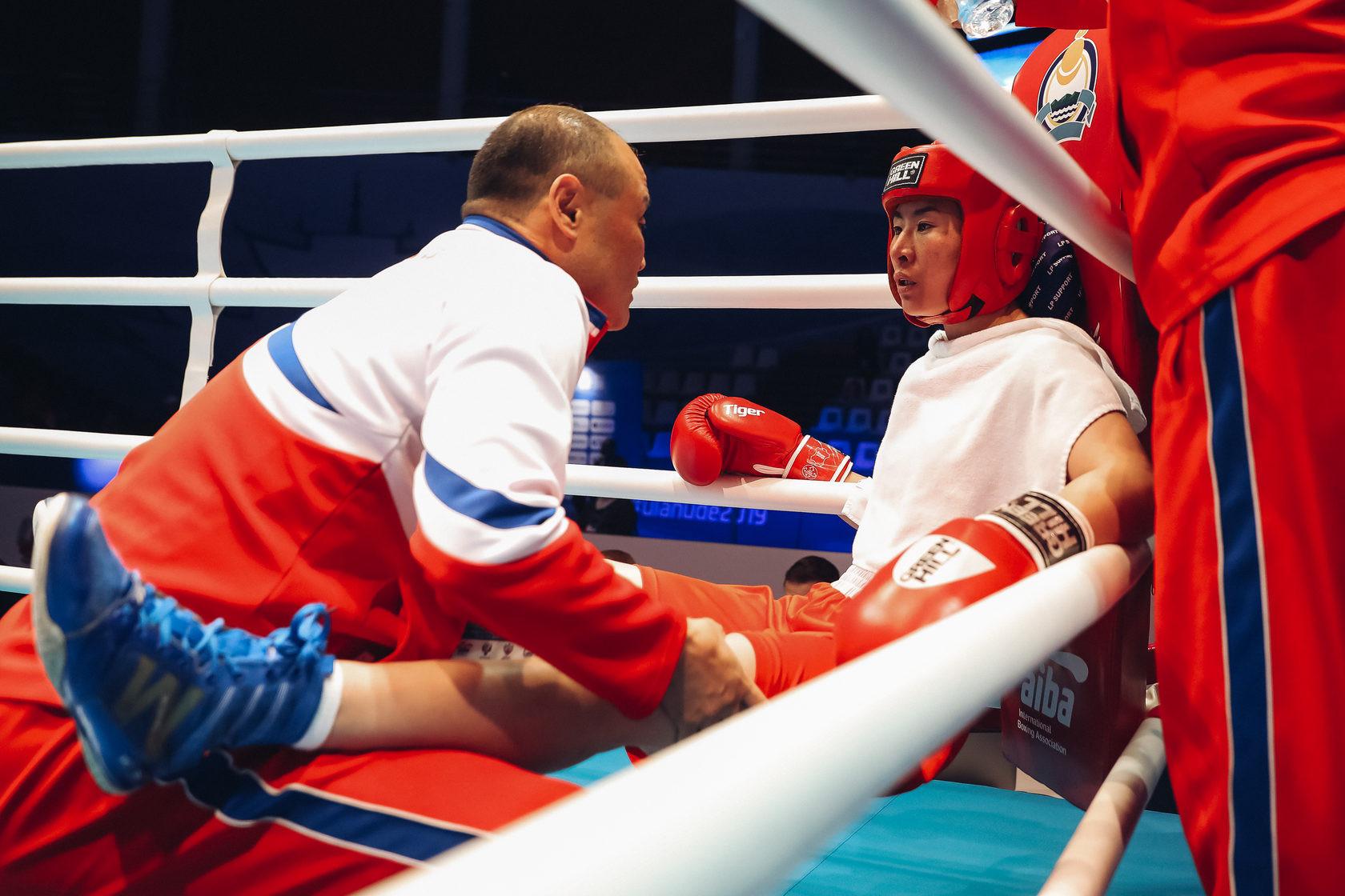 Wu Shih-yi of Chinese Taipei narrowly overcame Irène Fiolek of Canada 3-2 ©AIBA