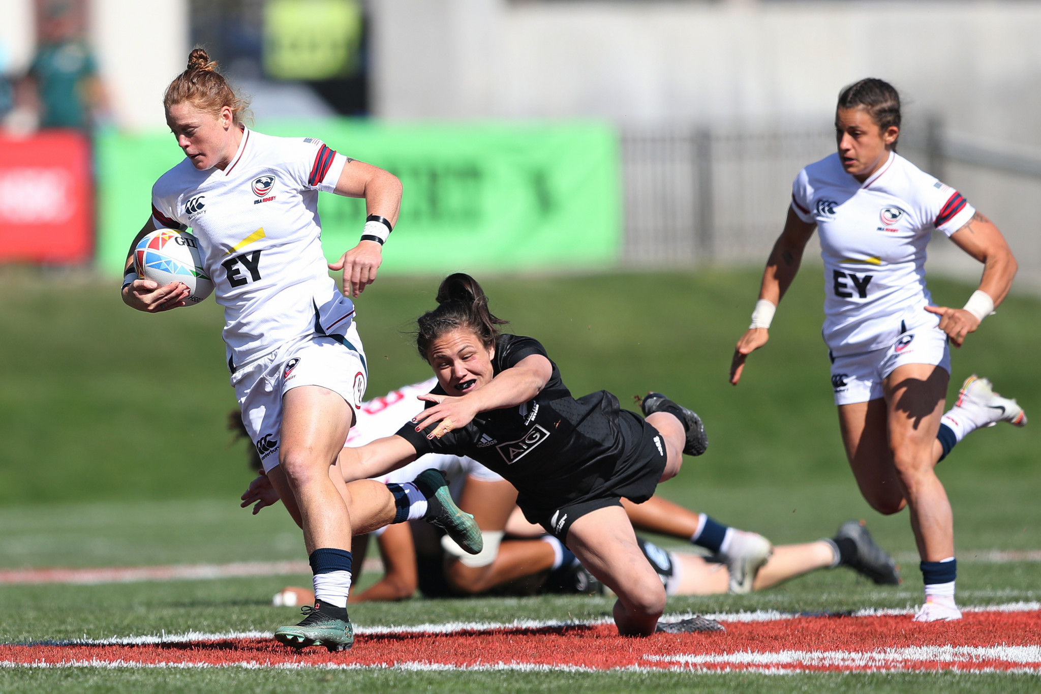 The US negotiated a dramatic semi-final with overall reigning champions New Zealand ©World Rugby